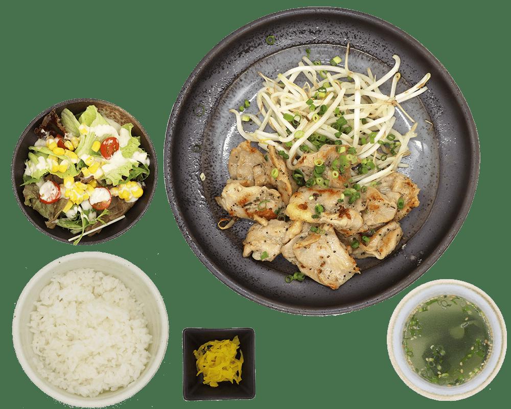 鶏コリ定食